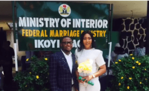 Ubi Franklin & Lilian Esoro's court wedding (Photos)