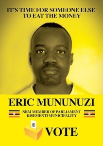 Look at the funny campaign poster of this young Ugandan politician (Photo)