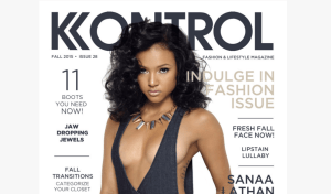 Karrueche Tran flashes cleavage for Kontrol magazine cover (Photos)