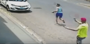 Brazilian Police Officer shoots wife 11 times killing her in broad daylight (Graphic Photo + Video)