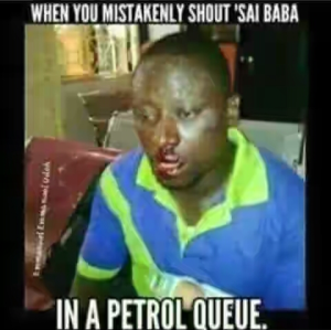 When you mistakenly shout 'Sai Buhari' at a petrol station queue – Another Laugh (Photo)