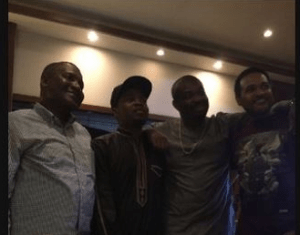 Aliko Dangote reconciled Olamide and Don Jazzy (See the photos)