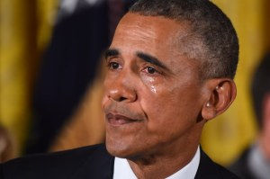 President Obama in tears as he talks about deaths from gun violence (Photos + Video)