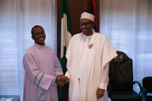 """Do not contest in 2019"" – Father Mbaka warns President Buhari"