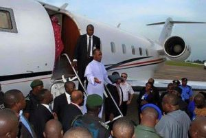 Rev. Father Mbaka flies on private jet (Photo)