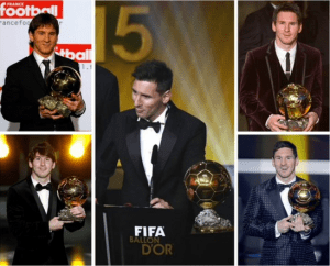 Lionel Messi wins Ballon d'Or award for the fifth time (Photo)