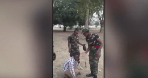 "Watch: How Nigerian army female cadet tortures man for saying she is ""Beautiful"" (Video)"