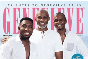 Richard Mofe Damijo, Ik Osakioduwa, Timi Dakolo on the cover of Genevieve magazine (Photos)