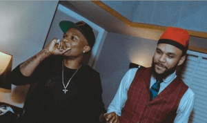 Wizkid hook up with Jidenna in LA studio (Photo)