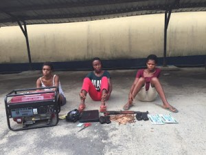 Police nab suspected female criminals in Rivers state, recover firearms (Photos)