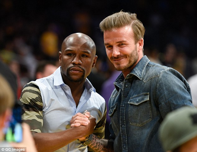 David Beckham and Floyd Mayweather