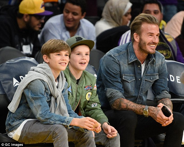 David Beckham with sons