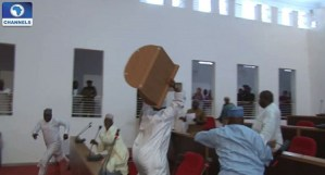 Nasarawa lawmakers fight over appointment of sole administrators (Shocking Video)