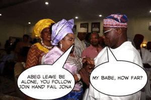 See the genius funny fictitious conversation between Olusegun Obasanjo and Patience Jonathan (Photos) [Another Laugh]