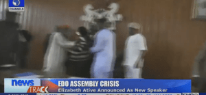 Watch the disgraceful fighting scenes in Edo State House of Assembly (Photos & Video)