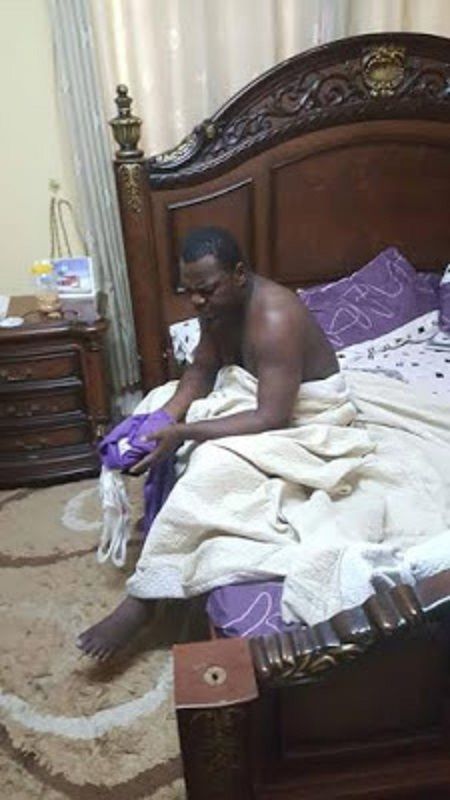 Ghana pastor caught pants down with married woman1
