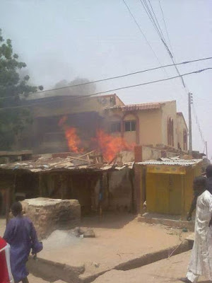 Kano youths burn lawmakers properties