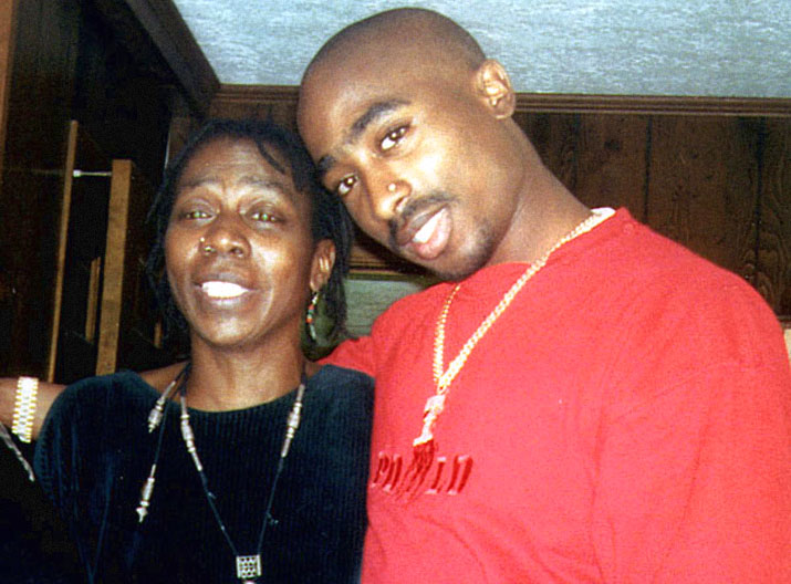 TUPAC SHAKURS WITH HIS MOTHER AFENI SHAKUR