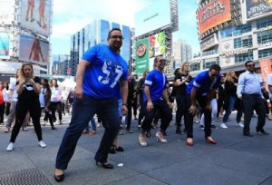 Nice one: Hundreds of men take to the streets in high-heels to walk against violence on women