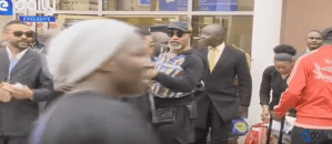 Congolese star, Koffi Olomide caught on camera assaulting female dancer in front of security officials (Photo + Video)