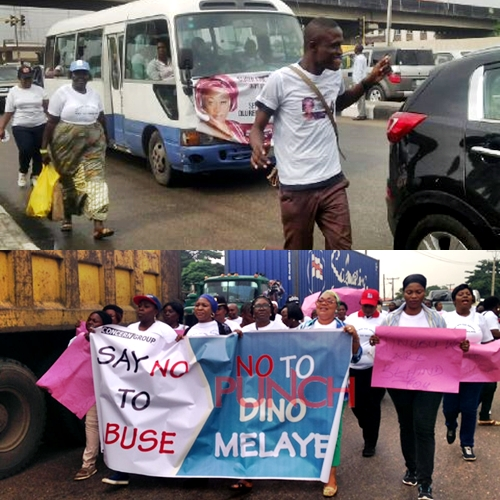 Women protest againt Dino Melaye in Lagos1