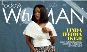 The Queen and King of Nigerian blogging, Linda Ikeji covers TW magazine (Photos)
