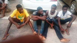 Teenagers nabbed in Lagos for kidnapping expatriates, oil theft (Photo)