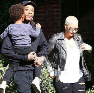 Amber Rose ,Wiz Khalifa step out with their son, Sebastian