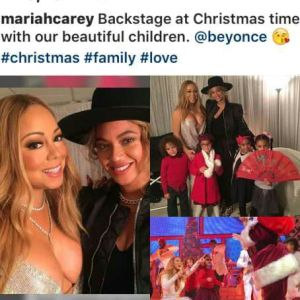 , Queens! Mariah Carey and Beyonce pose together, Effiezy - Top Nigerian News & Entertainment Website