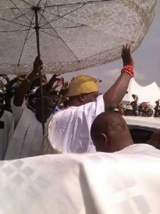 Ooni of Ife visits NYSC Camp,Ede