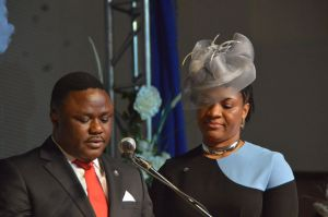 Ben Ayade with wife, Lynda