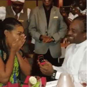 Linda Ikeji's sister, Laura proposed to by Kanu Nwankwo's brother, Ogbonna (Photos + Videos)