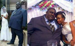 Lady comes for individuals criticising obese man whose wedding photos went viral last week