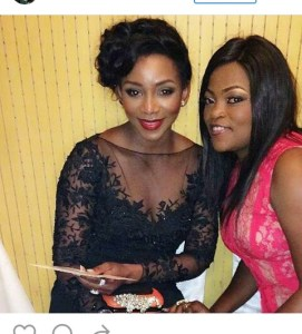 Genevieve shares picture with Funke Akindele