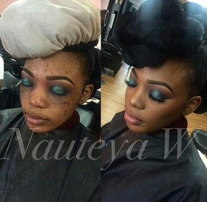Check out this before and after make up photos