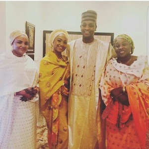 Zahra Buhari pictured with husband and in-laws