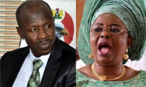 Patience Jonathan accuses EFCC boss of seizing her visa