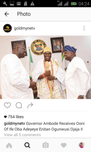 Ooni of Ife visits the Governor of Lagos State