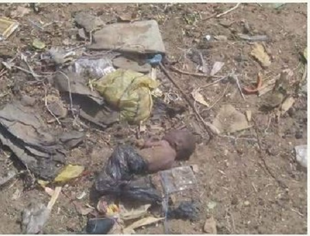 , Shocking! Newborn baby wrapped in nylon bag and dumped at a dumpsite in Kebbi state dies (Graphic Photos), Effiezy - Top Nigerian News & Entertainment Website