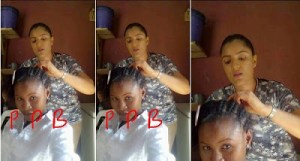 Photo of Gifty surface online confirming claims that she is an hairdresser in Obosi,Anambra State.