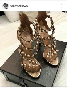 Weeks after her dog destroyed her designer shoes,Toke Makinwa replaces them with an expensive one
