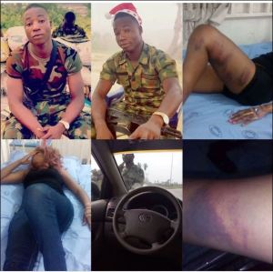 The army arrest officer who beat up a lady on her way from Rivers state to Anambra state