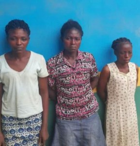 Three women arrested for dumping their friend's lover's body in a bush