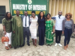 Yvonne Jegede Fawole carries out court wedding with hubby,Abounce