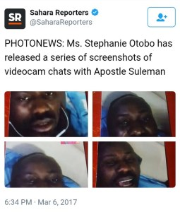 Check out hot and sexy videos of Apostle Suleiman's rumored mistress,Stephanie Otobo