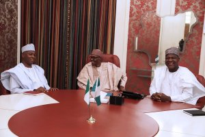 What we discussed with President Buhari-Dogara,Saraki