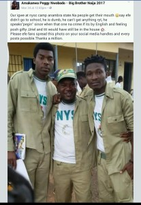 BBNaija- Throwback picture of Efe as a corps member