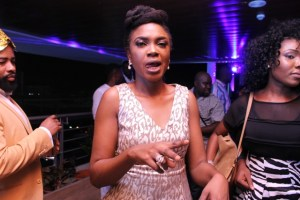 Omoni Oboli parties in style after her movie premiere gets halted
