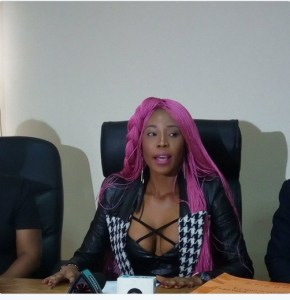 Check out the sexy outfit Apostle Suleiman's rumored mistress wore to her press conference