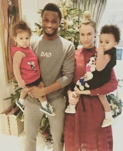 Mikel Obi's fiancee Olga, relocates to China to be with him